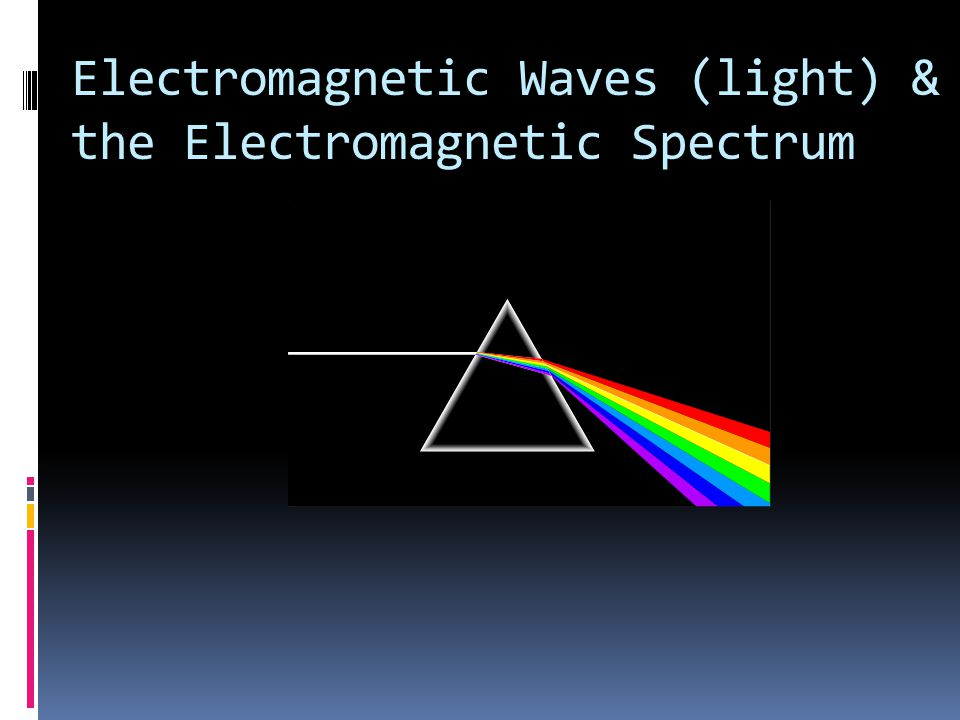 Electromagnetic Waves (light) & the Electromagnetic Spectrum