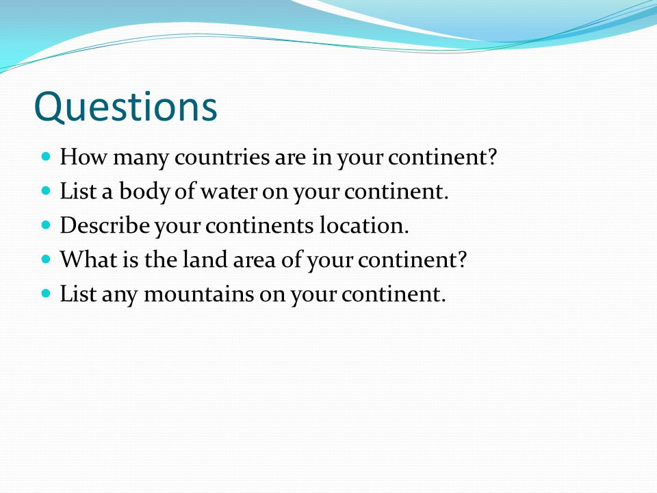 The Continents And Oceans Of The World Ppt Download - List of oceans in the world
