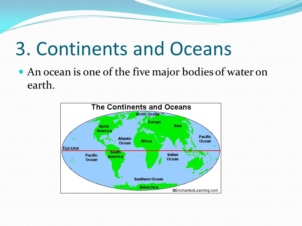 The Continents And Oceans Of The World Ppt Download - Major continents