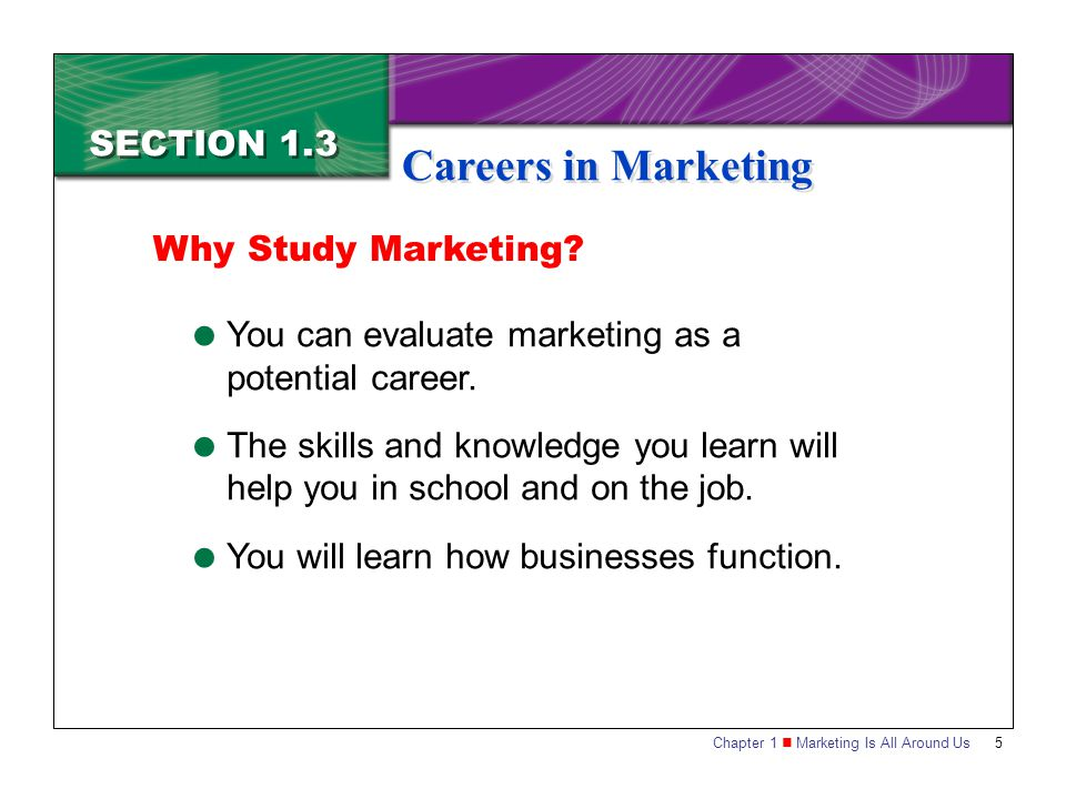 careers in marketing The job search portal careercastcom found the best jobs in advertising and marketing based on work environment, income, stress, physical demands, and job.