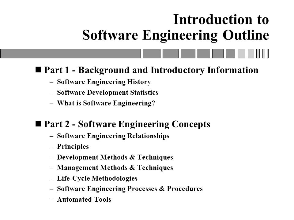 brief history of software engineering A brief history of west point  other technical schools in the post-civil war period allowed west point to broaden its curriculum beyond a strict civil engineering.