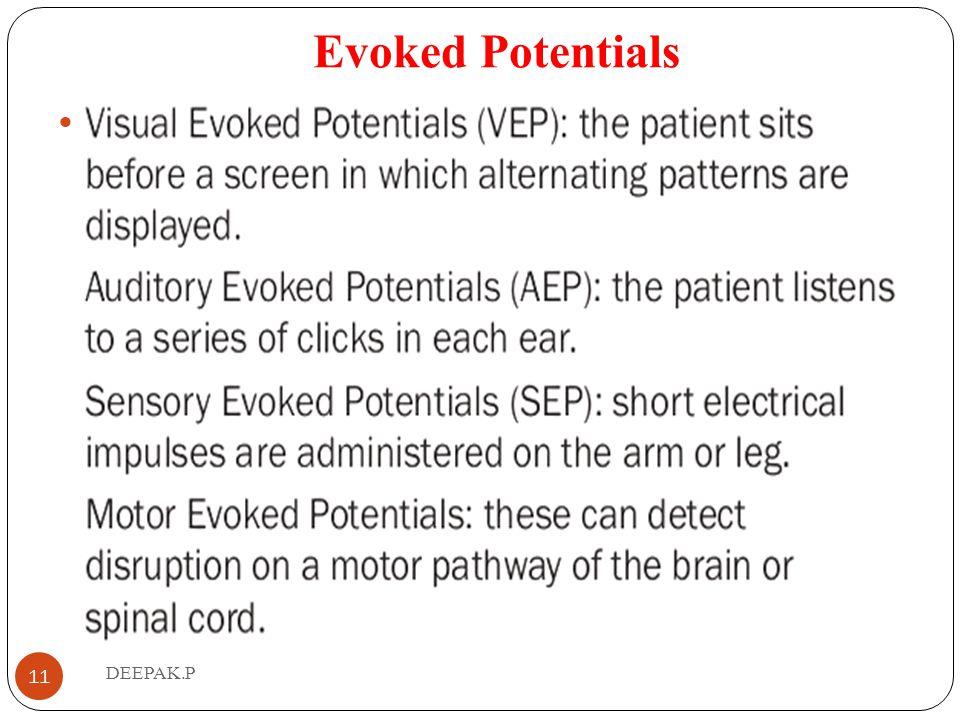 Evoked Potentials . DEEPAK.P