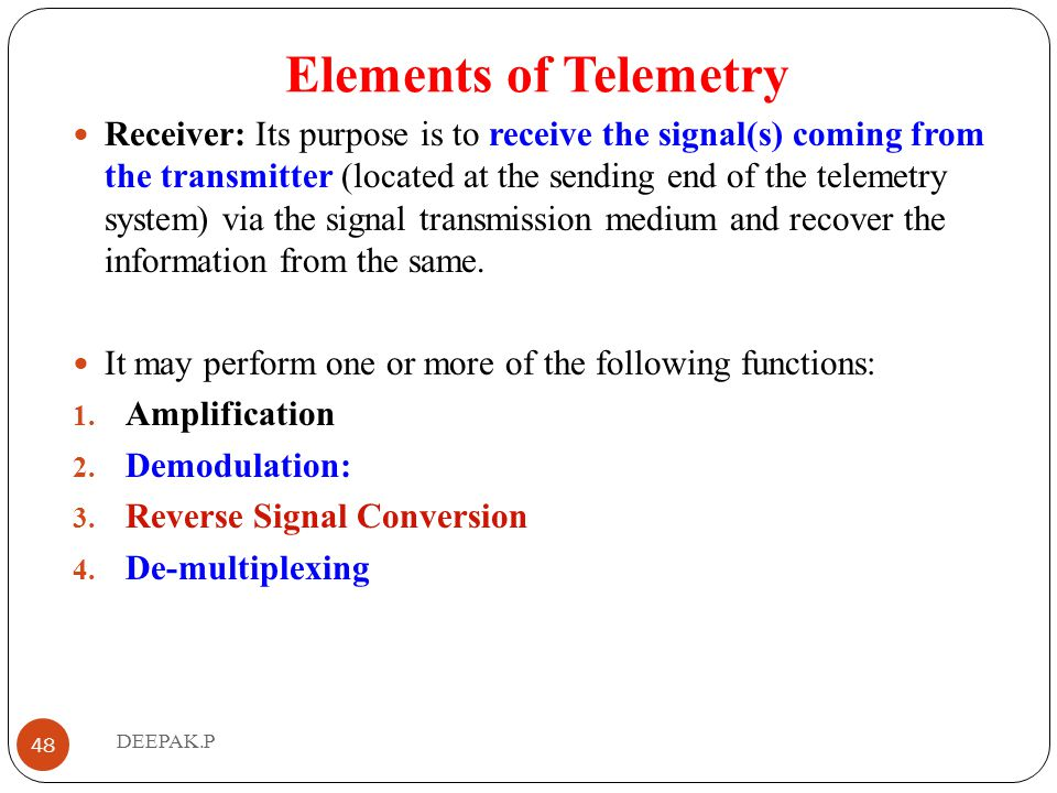Elements of Telemetry