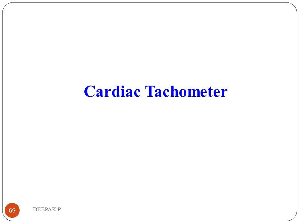 Cardiac Tachometer 69 DEEPAK.P