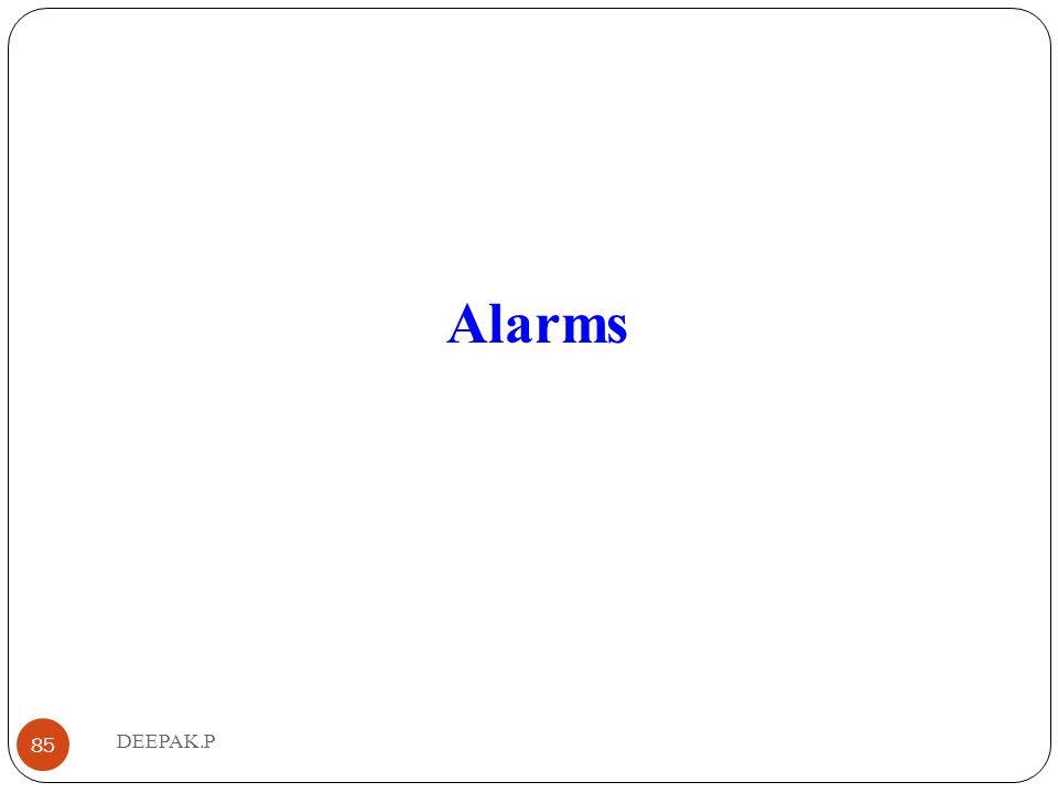 Alarms 85 DEEPAK.P