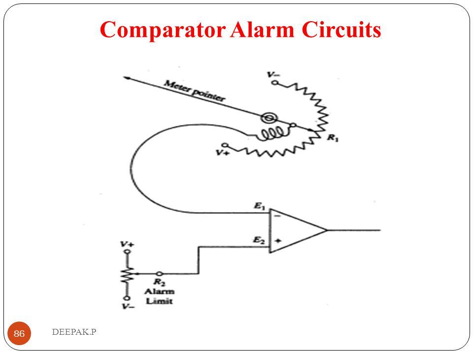 Comparator Alarm Circuits