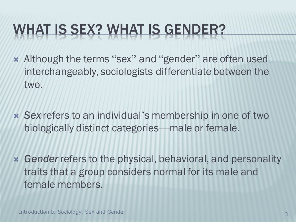 What is sex What is gender