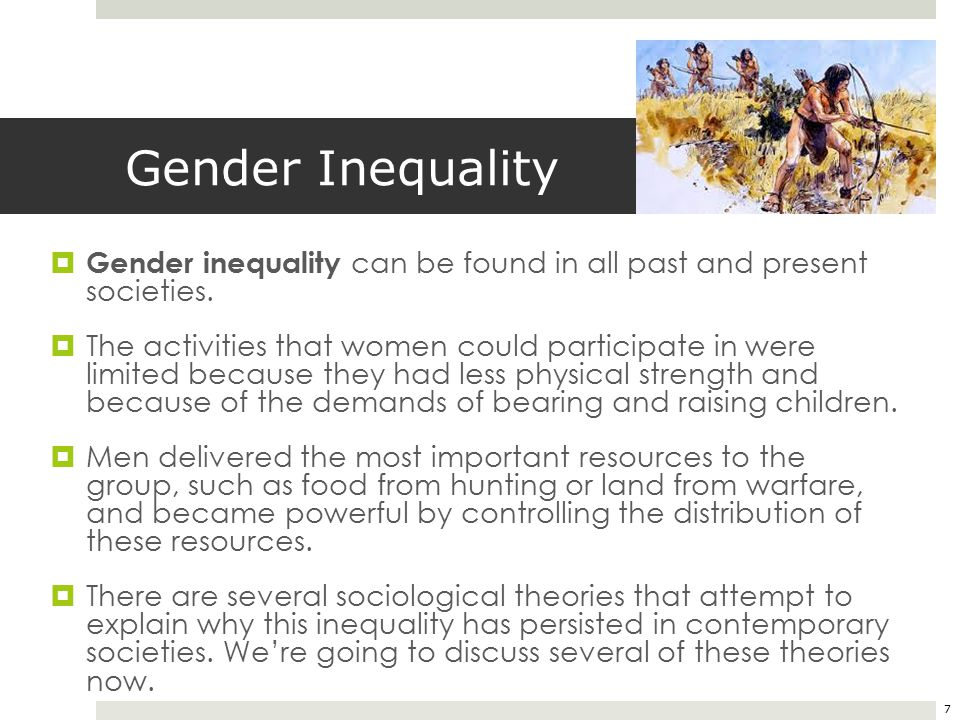 gender inequality in modern society essay Free gender inequality asked a lot in today's modern society most people think of gender as the physical fact in our society and in this essay.