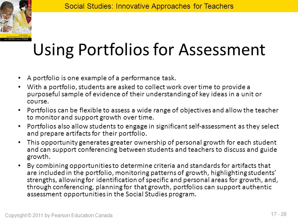 Chapter 17 improving student achievement in social studies ppt using portfolios for assessment altavistaventures Images