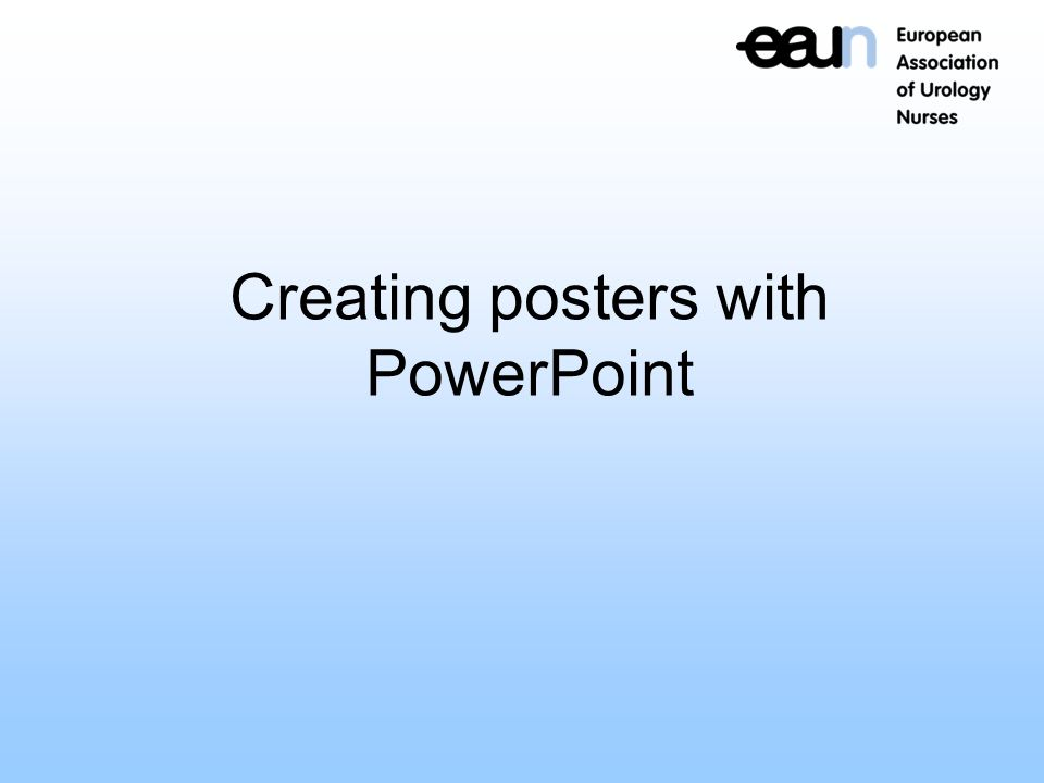 creating a poster on powerpoint