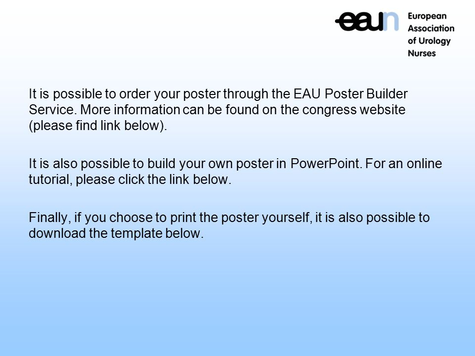 Poster Presentation EAUN online tool ppt download – Found Poster Template