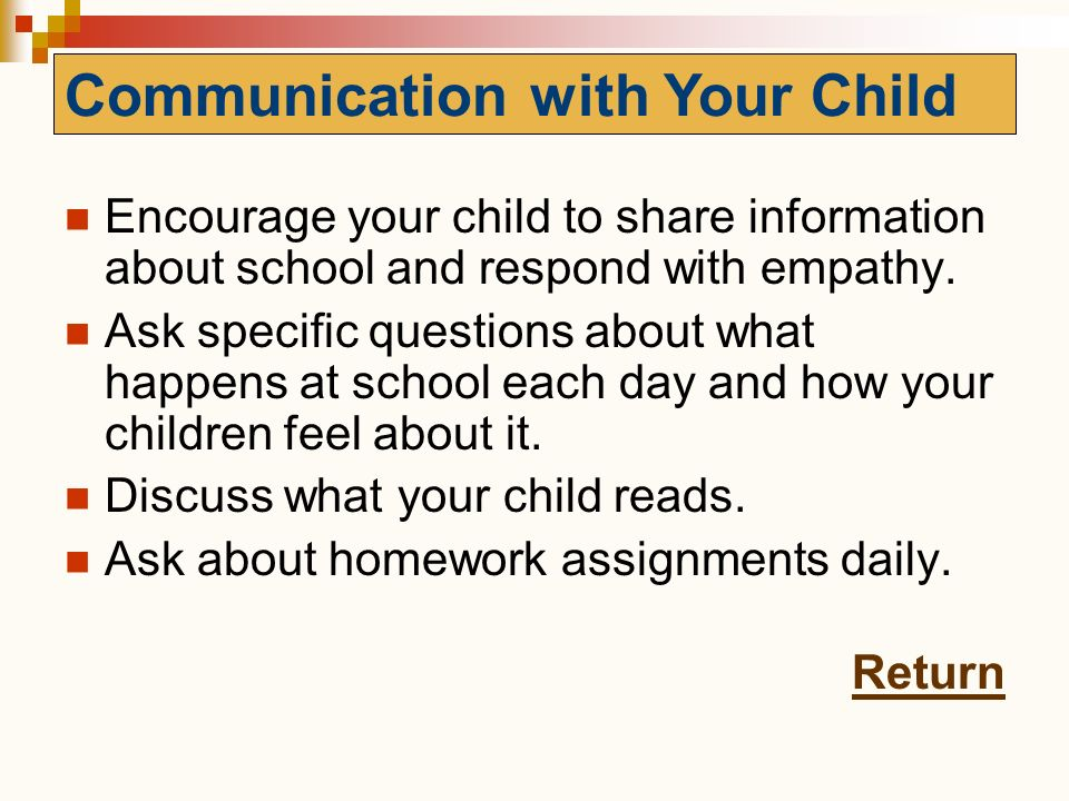 Communication with Your Child