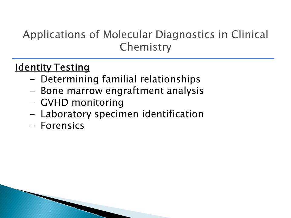 Applications Of Molecular Diagnostics In Clinical