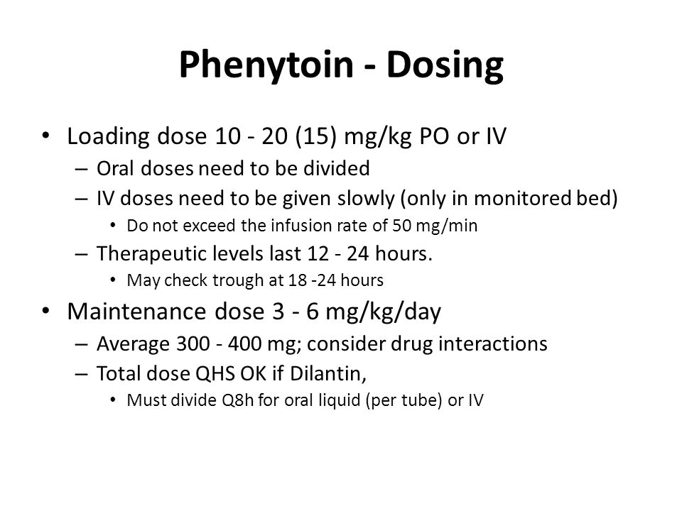 Phenytoin loading dose iv – Blog about body and health