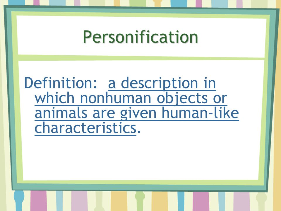 Image Result For Personification Definitiona