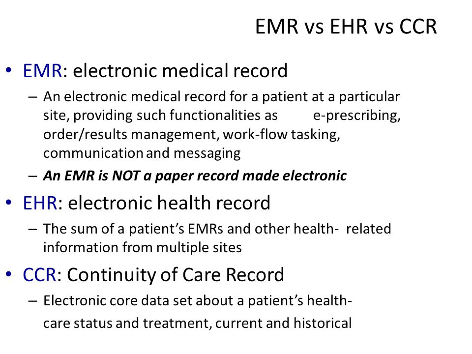 electronic medical records emr essay Essay on doodles: electronic medical record and cerner millennium software example of that adventist healthcare is a not-for-profit organization that is using that is using emr technology.