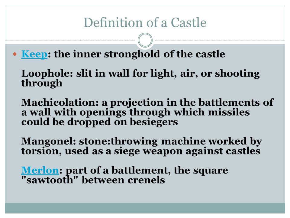 Castle Project Terms Miss Green Ppt Video Online Download