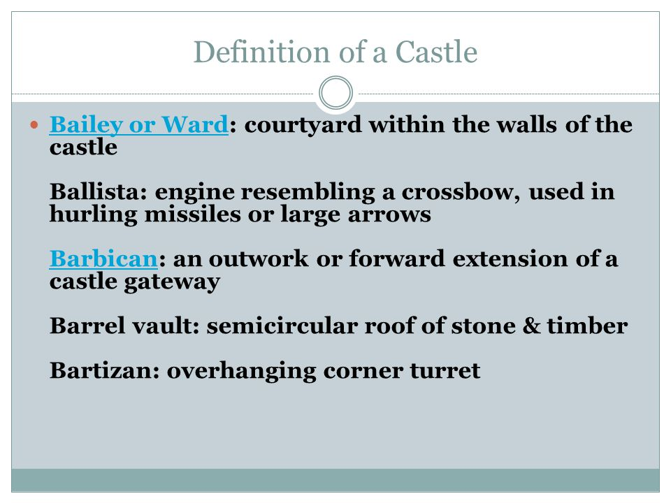 Castle Project Terms Miss Green. - ppt download