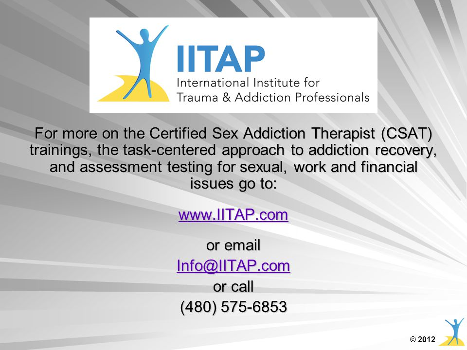 sex and addiction therapists