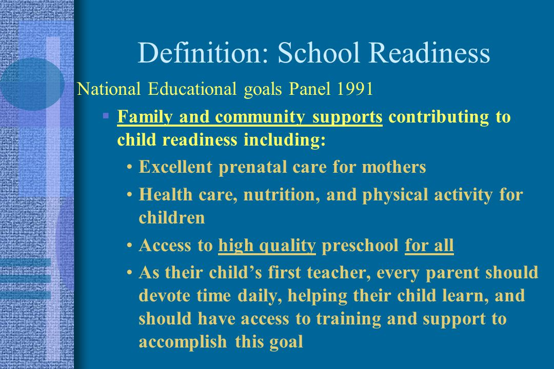 Promoting School Readiness Early Brain And Child