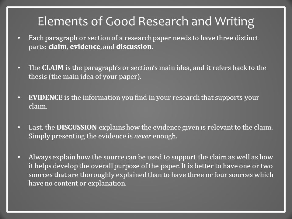 elements of research paper writing 0 elements of report writing mar 4, 2009 elements of report/paper writing penny j davies as many people as possible in my research area.
