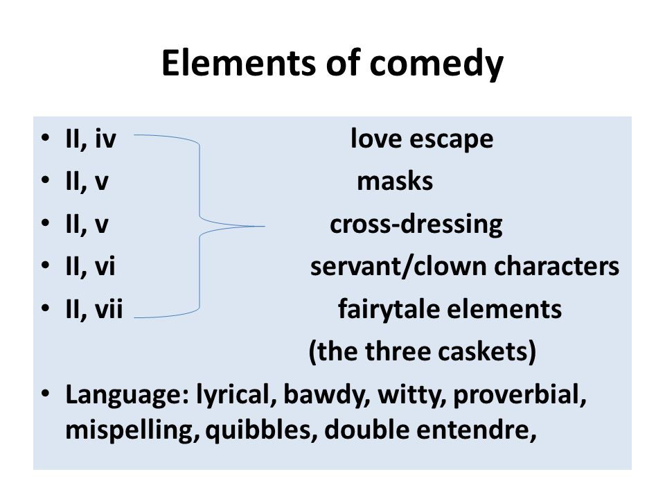 Elements of comedy II, iv love escape II, v masks II, v cross-dressing