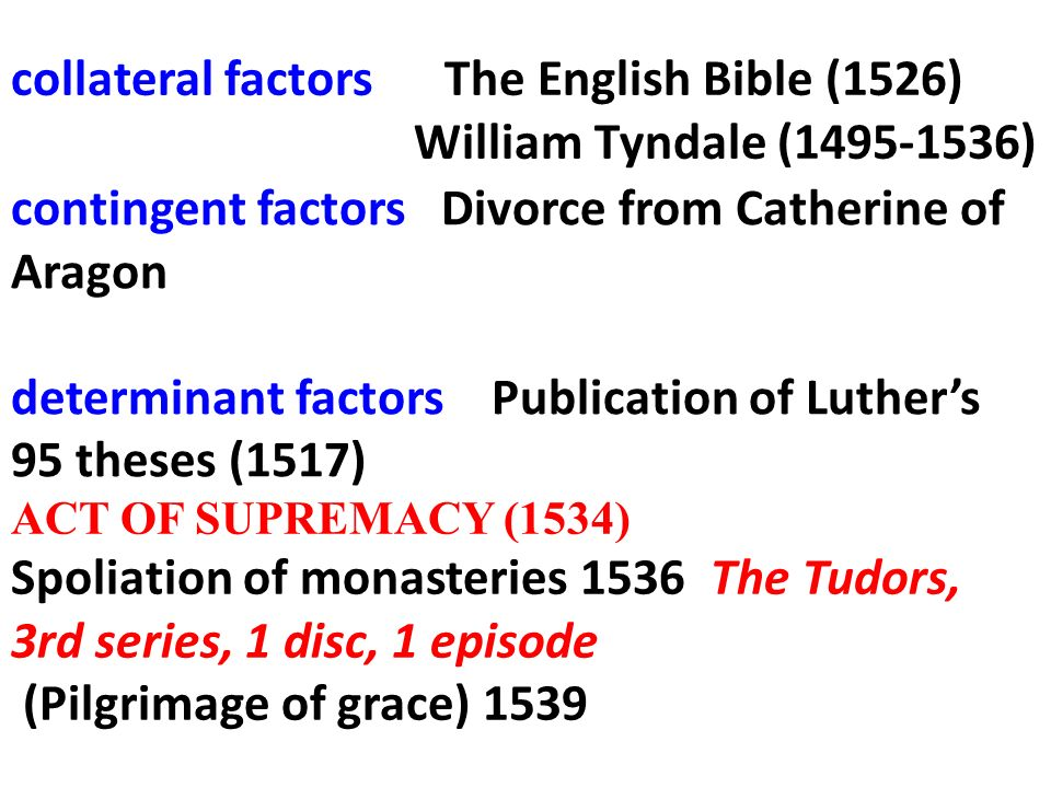 collateral factors The English Bible (1526)