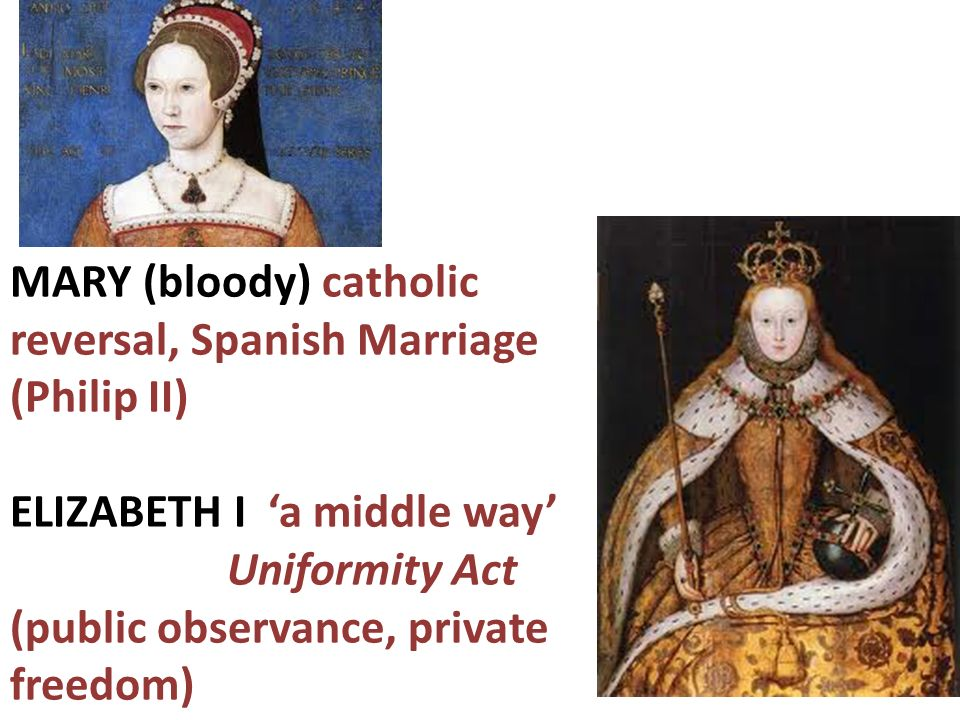 MARY (bloody) catholic reversal, Spanish Marriage