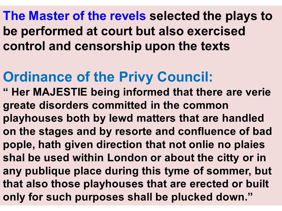 Ordinance of the Privy Council:
