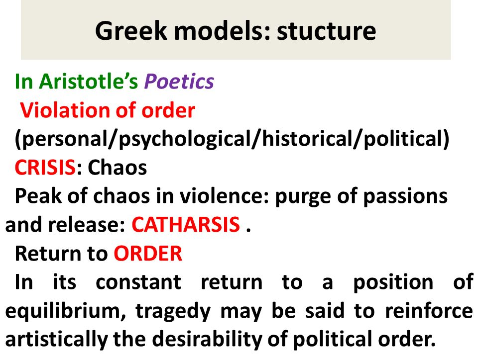 Greek models: stucture