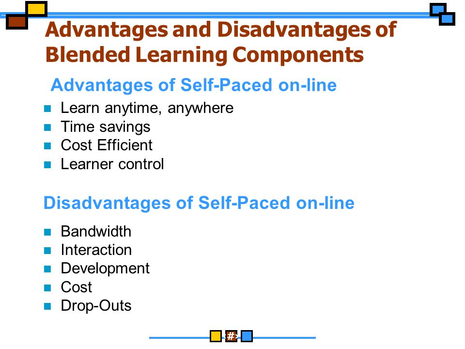 Advantages and Disadvantages of Blended Learning Components