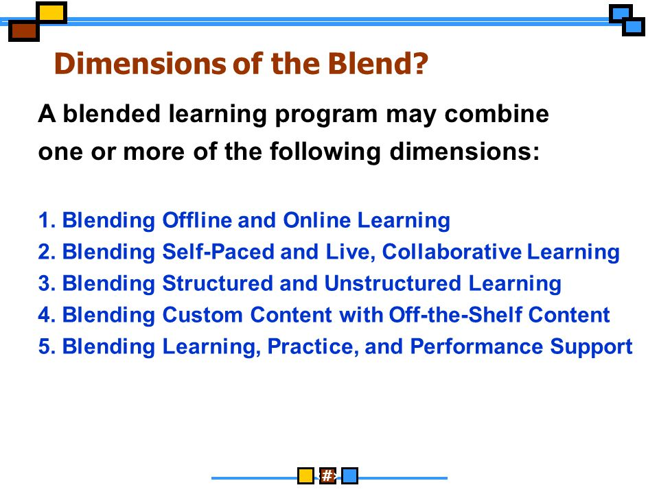 Dimensions of the Blend