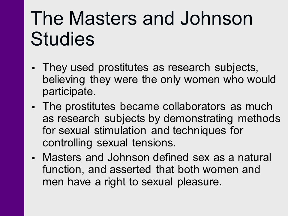 Research subjects needed for sex