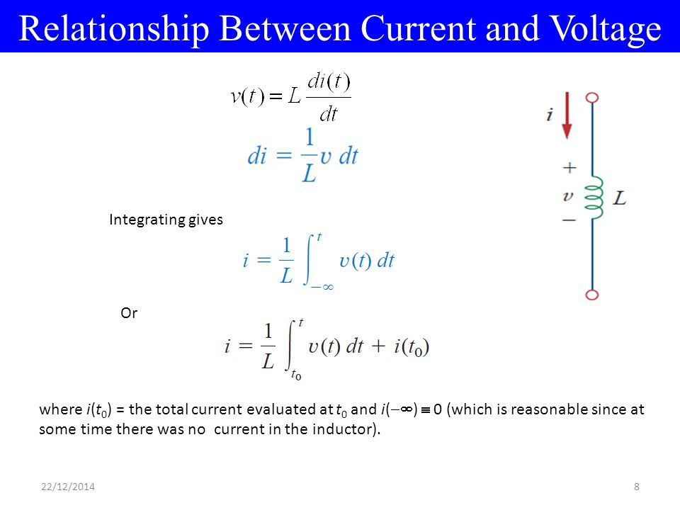 relationship between power and voltage current are