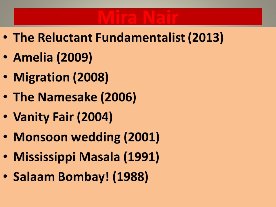 Mira Nair The Reluctant Fundamentalist (2013) Amelia (2009)