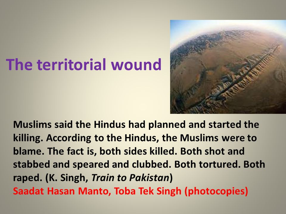 The territorial wound