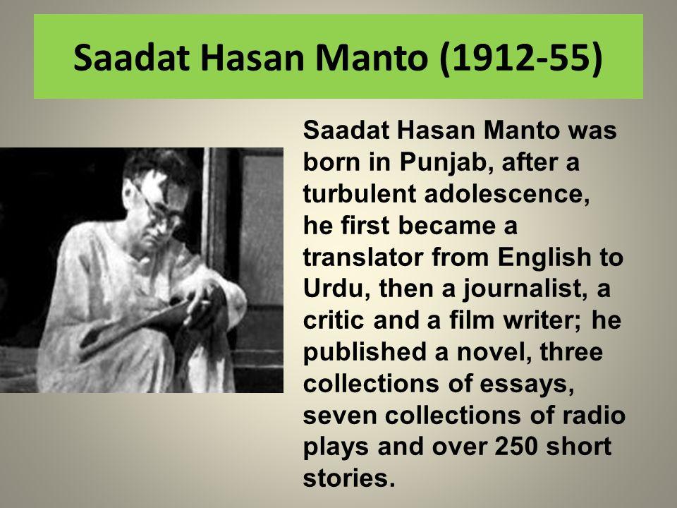 Saadat Hasan Manto (1912-55)