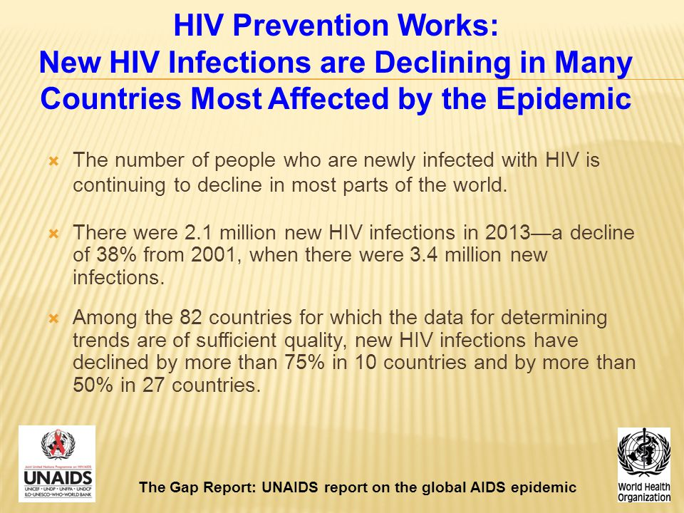 HIV Prevention Works: New HIV Infections are Declining in Many Countries Most Affected by the Epidemic
