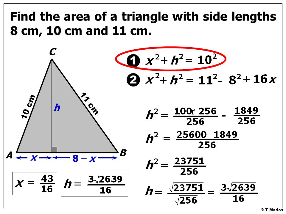 Herons method for finding the area of a triangle t madas ppt 14 find ccuart Choice Image