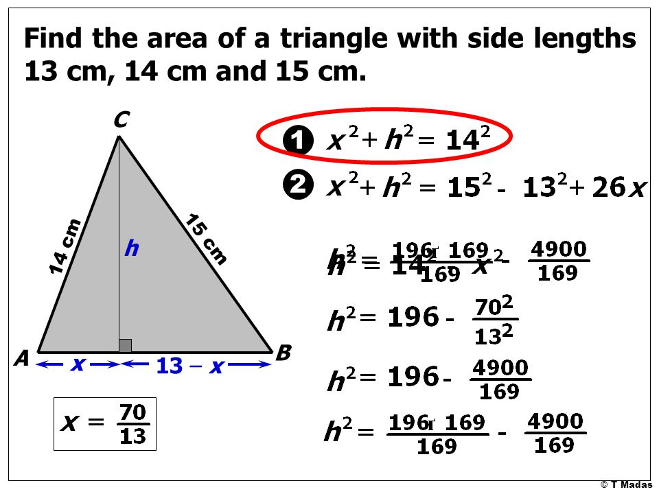 Herons method for finding the area of a triangle t madas ppt 7 find ccuart Choice Image