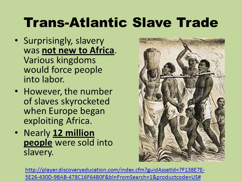 an analysis of slave trade