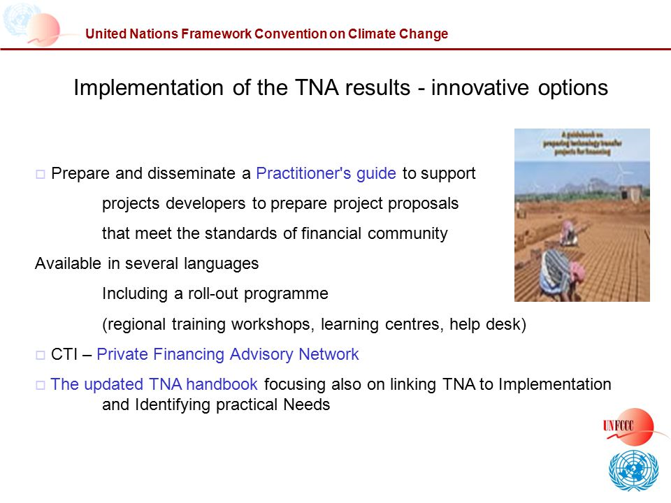 Implementation of the TNA results - innovative options