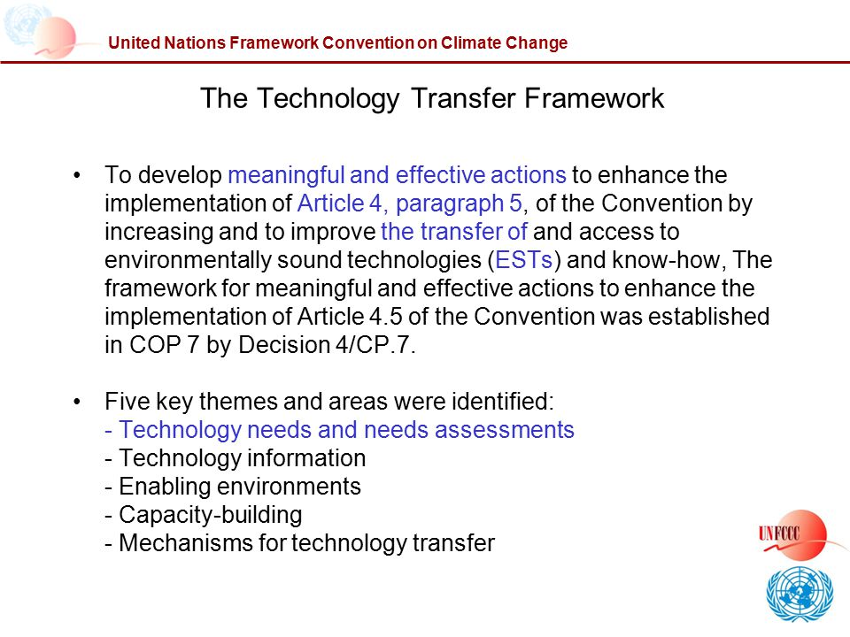 The Technology Transfer Framework