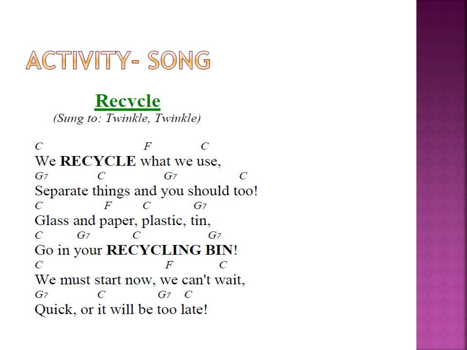 Activity- Song