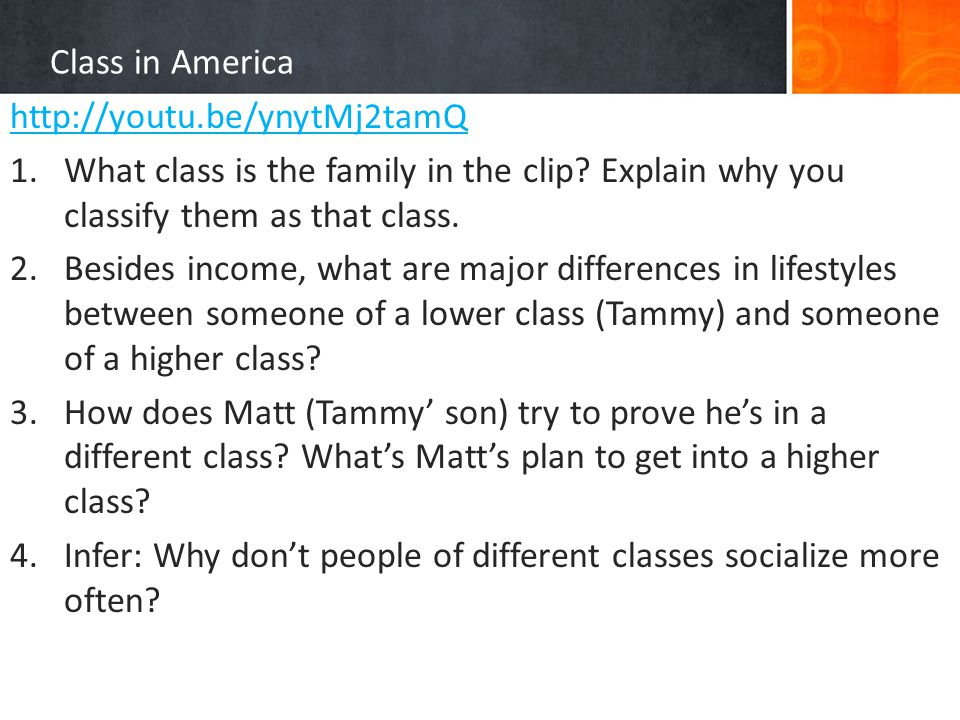 the different social class in america 83 social class in the united states  distinguish objective and subjective measures of social class  the middle class includes people with many different .