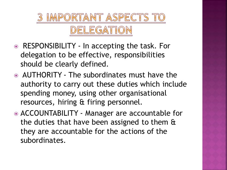 3 important aspects to delegation