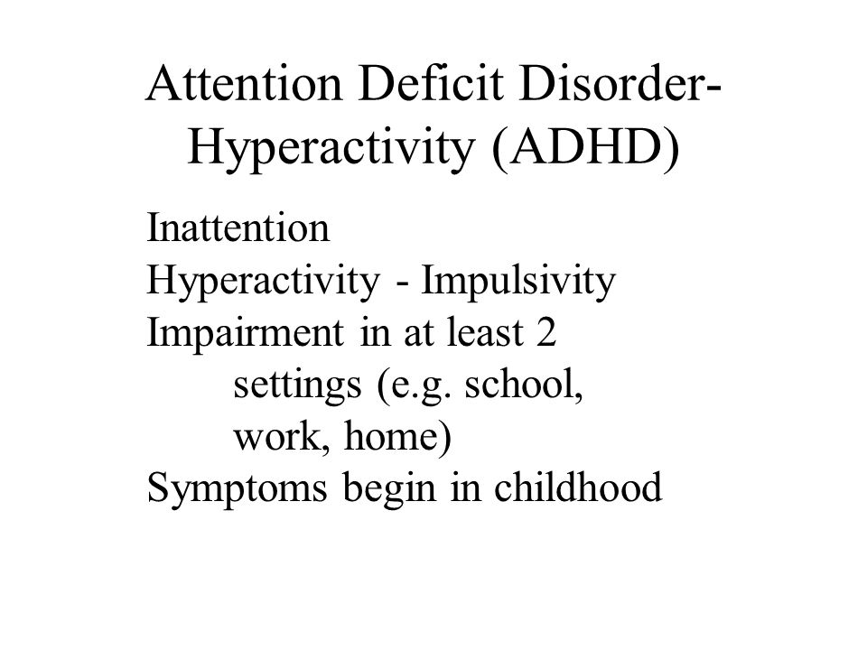 Opinion the Adult attention deficit disorder symptoms means not