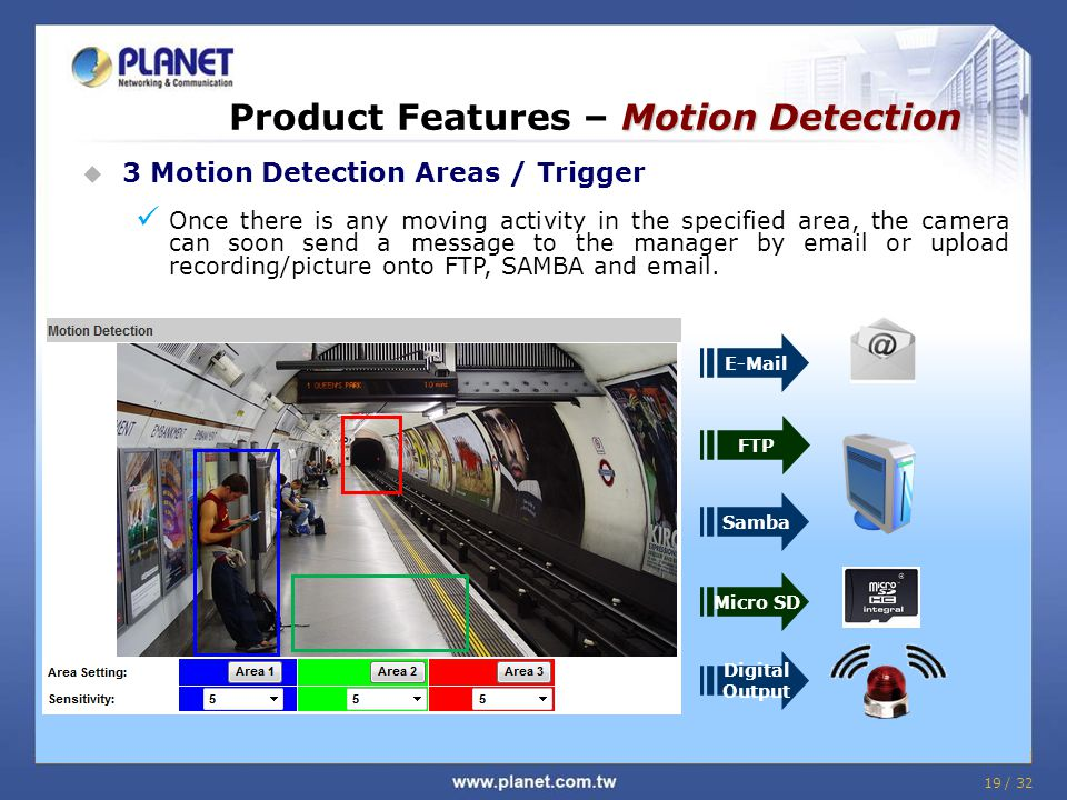 Product Features – Motion Detection