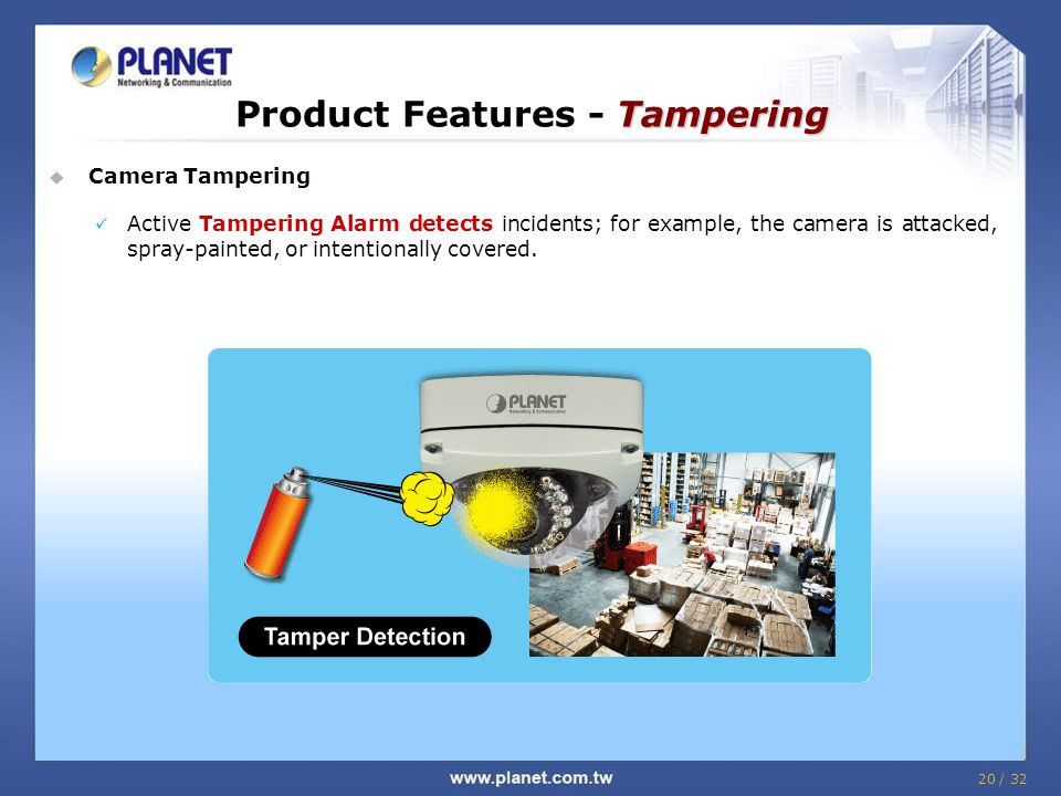 Product Features - Tampering