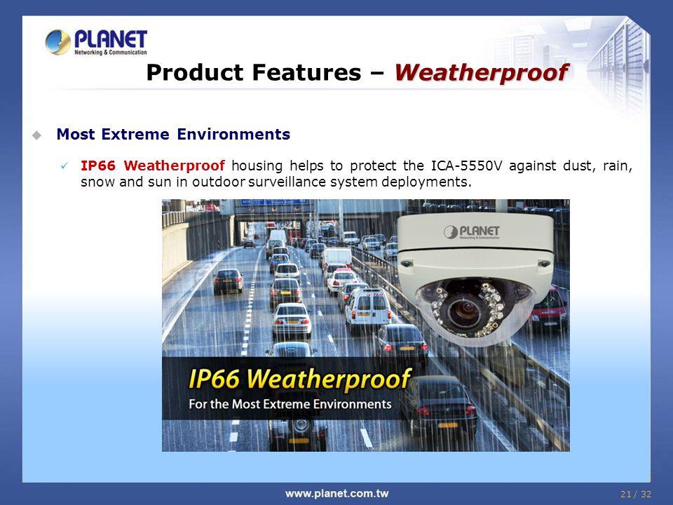 Product Features – Weatherproof